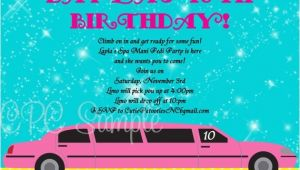 Limo Birthday Party Invitations Pink Limousine Birthday Invitation Printable Party Invite