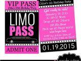 Limo Birthday Party Invitations Pinterest the World S Catalog Of Ideas