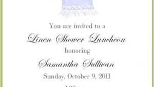 Linen Bridal Shower Invitations Linen Shower