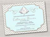 Linen Bridal Shower Invitations Monogram Printable Invitation Monogram Linens Wedding