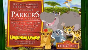 Lion Guard Birthday Party Invitations Lion Guard Birthday Invitation Digital File