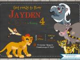 Lion Guard Birthday Party Invitations the Lion Guard Birthday Invitation Disneys the Lion