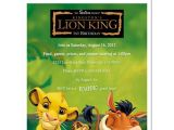 Lion King Birthday Party Invitations 8 Lion King Personalized Birthday Party Invitations