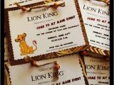Lion King Birthday Party Invitations Lion King Birthday Party Invitations