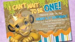 Lion King Birthday Party Invitations Simba Lion King Birthday Invitation