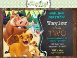 Lion King Party Invitation Template Lion King Birthday Invitation Lk01