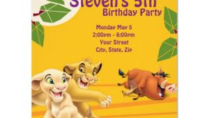Lion King Party Invitation Template Lion King Birthday Invitation Zazzle Com
