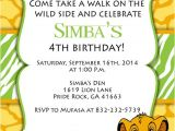 Lion King Party Invitation Template Lion King Invitation Templates