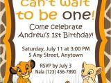 Lion King Party Invitation Template Simba Lion King Birthday Invitation Birthdays In 2019