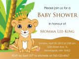 Lion King themed Baby Shower Invitations Baby Lion King Baby Shower Invitation by Designsbyoccasion