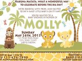 Lion King themed Baby Shower Invitations Baby Lion King Baby Shower Invitations
