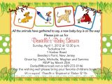 Lion King themed Baby Shower Invitations Lion King Baby Shower Invitation