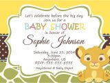 Lion King themed Baby Shower Invitations Lion King Baby Shower Invitation Wording