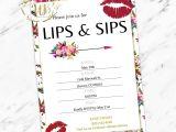 Lipsense Party Invite Lipsense Lip and Sip Party Invitation Lipsense Makeup