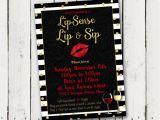 Lipsense Party Invite Lipsense Lip Sip Party Invitation