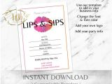 Lipsense Party Invite Template Gra Ntlipsense Party Invitation Lipsense Lip and Sip