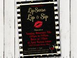 Lipsense Party Invite Template Lipsense Lip & Sip Party Invitation