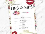 Lipsense Party Invite Template Lipsense Lip and Sip Party Invitation