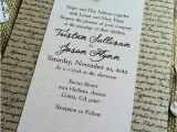 Literary themed Wedding Invitations Literary themed Wedding Consider Us Booked totally