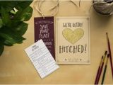 Literary themed Wedding Invitations Literary Wedding Invitation Set Customizable Library