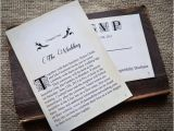 Literary themed Wedding Invitations Novel Idea Literary Wedding Invitation Set Print Yourself