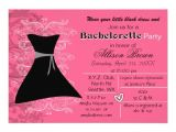 Little Black Dress Bachelorette Party Invites Little Black Dress Bachelorette Party Invite Zazzle