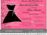 Little Black Dress Bachelorette Party Invites Printable Little Black Dress Bachelorette Party Invitation