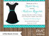 Little Black Dress Bridal Shower Invitations Custom Printed Little Black Dress Bridal Shower Invitations