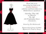 Little Black Dress Bridal Shower Invitations Little Black Dress Bridal Shower Invitations