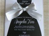 Little Black Dress Bridal Shower Invitations Little Black Dress Bridesmaid Dress Invitation with