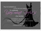 Little Black Dress Bridal Shower Invitations Little Black Dress Invitation Printable Front & Back