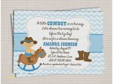 Little Buckaroo Baby Shower Invitations Baby Shower Invitation Elegant Western Baby Boy Shower