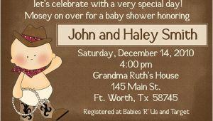 Little Buckaroo Baby Shower Invitations Lil Buckaroo Baby Shower Invitations New Deluxe Line with