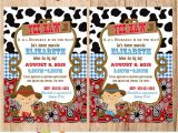 Little Buckaroo Baby Shower Invitations Little Buckaroo Baby Cowboy Invitation First Birthday or