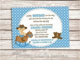 Little Buckaroo Baby Shower Invitations Little Buckaroo Cowboy Baby Shower Custom Printable Shower