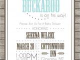 Little Buckaroo Baby Shower Invitations Printable Little Buckaroo Baby Shower Invitation by