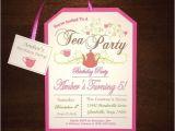 Little Girl Tea Party Invitation Ideas Little Girl 39 S Pink Tea Party Birthday Invitations 5 Years