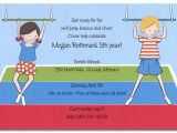 Little Gym Party Invitations Little Gym Birthday Invitations by Invitation