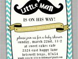 Little Man Baby Shower Invitation Templates Little Man Baby Shower Invitations