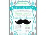 Little Man Baby Shower Invitation Templates Little Man Mustache Baby Shower Invitations