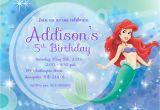 Little Mermaid Birthday Invitation Template 9 Best Images Of Free Mermaid Printable Invitation
