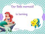 Little Mermaid Birthday Invitation Template Download Free Printable Ariel the Little Mermaid