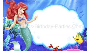 Little Mermaid Birthday Invitation Template Little Mermaid Font
