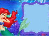 Little Mermaid Birthday Invitation Template Little Mermaid Free Printable Invitation Templates