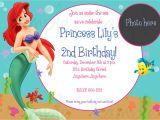 Little Mermaid Birthday Invitation Template the Little Mermaid Birthday Invitations Free Printable