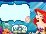 Little Mermaid Birthday Invitation Template the Little Mermaid Invitation Template Invitations Online