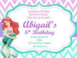 Little Mermaid Birthday Invitations Free Printables Little Mermaid Ariel Custom Printable Birthday Party