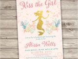 Little Mermaid Bridal Shower Invitations Rose Gold Bridal Shower Mermaid Invitations Shabby Chic Little