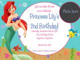 Little Mermaid Party Invitations Templates the Little Mermaid Birthday Invitations Free Printable