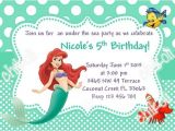Little Mermaid Pool Party Invitations Little Mermaid Party Invitations Ariel Birthday Party